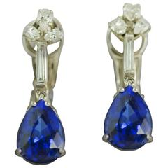 Tanzanite Platinum Earrings