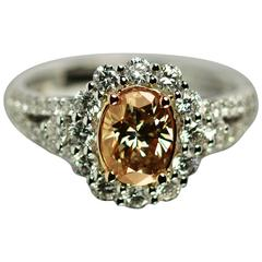 Fancy Color Diamond Gold Ring