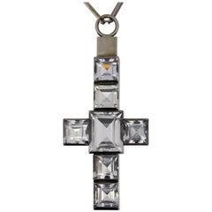 Wiwen Nilsson Rock Crystal Silver Cross Pendant