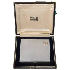 1937 King George VI Coronation King Monogram Silver Presentation Box