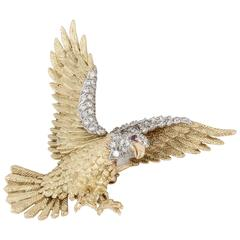 Rosenthal Diamond Gold Platinum Eagle Pin