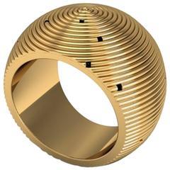 Christoph Blatter & Sparkles Gold Ring