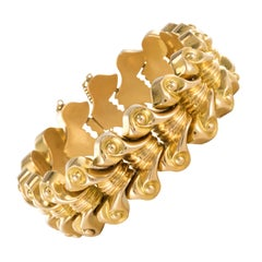 French 1940s Gold Tank Bracelet