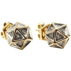 Icoso Diamond Gold Stud Earrings