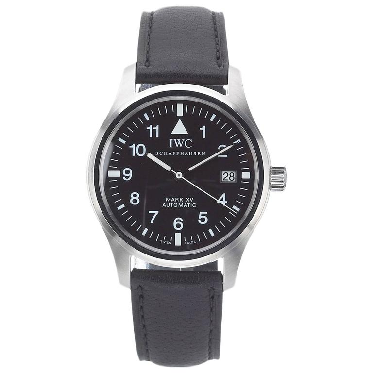 iwc schaffhausen stainless steel mark xv automatic. Black Bedroom Furniture Sets. Home Design Ideas