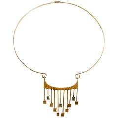 Paula HaIvaoja for Kaunis Koru Tourmaline Gold Necklace