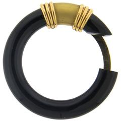Boucheron Paris Onyx Gold Circle Clip