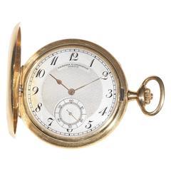 Vacheron Constantin Gold Keyless Full Hunter Pocket Watch