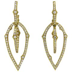 Stephen Webster Thorn Diamond Gold Drop Earrings