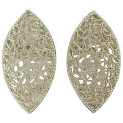 Buccellati Filidoro Silver Marquise Openwork Earrings