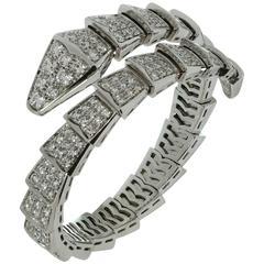 Bulgari Serpenti Pave Diamond Gold Bracelet