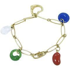 Tiffany & Co. Elsa Peretti Carved Gemstone Charm Bracelet