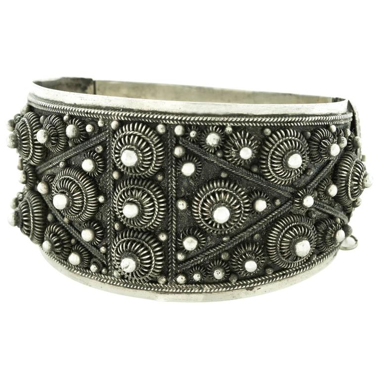 Fabulous Art Deco French-Indochina Sterling Bracelet