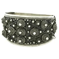 Fabulous Art Deco French Indochina Sterling Bracelet