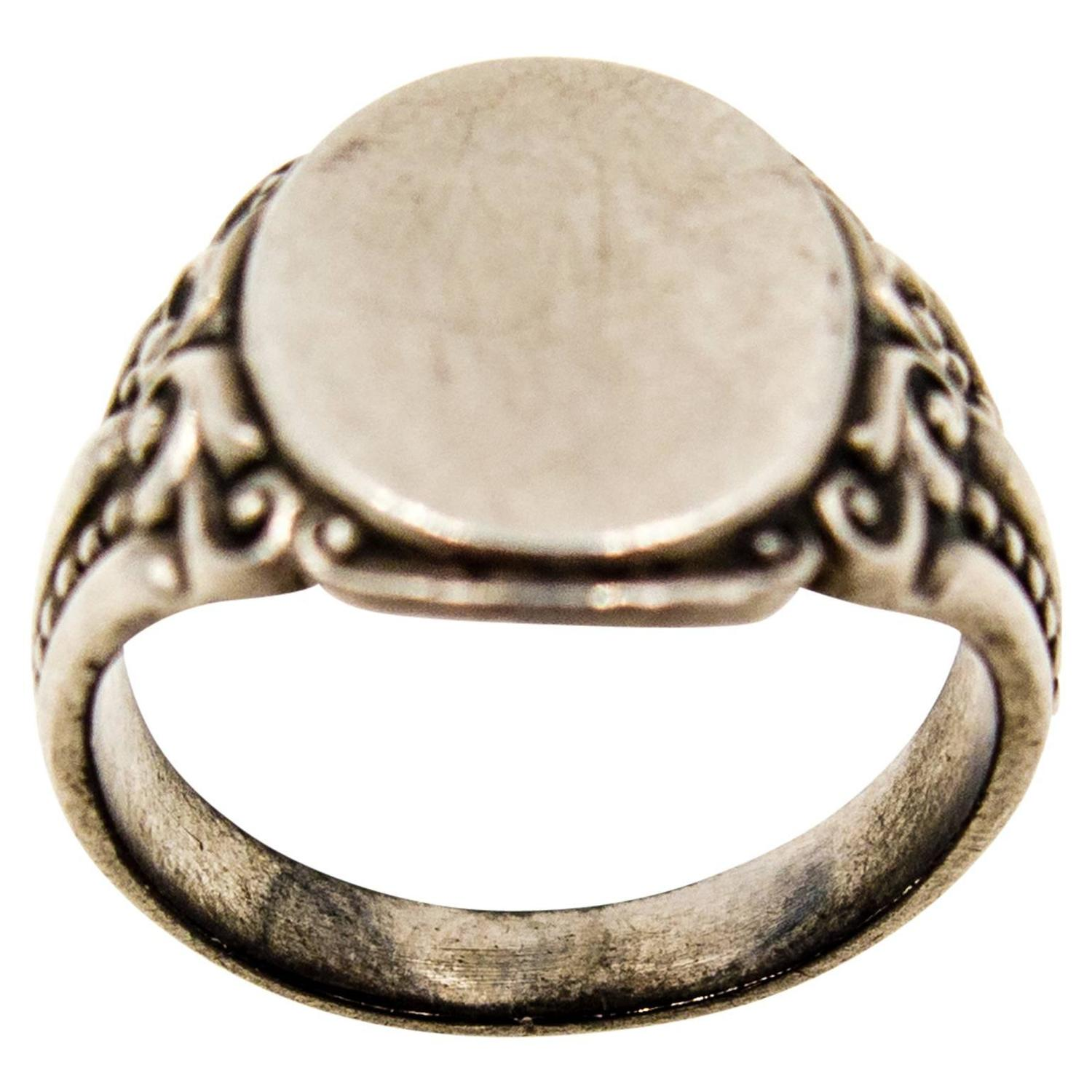 s antique silver signet ring for sale at 1stdibs
