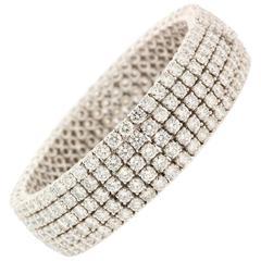 Modern Diamond Gold Bracelet