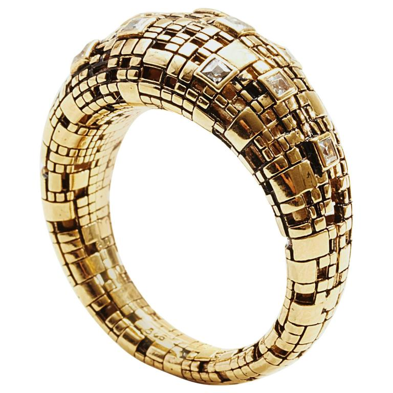 Bitcoin blockchain Diamond Gold Ring