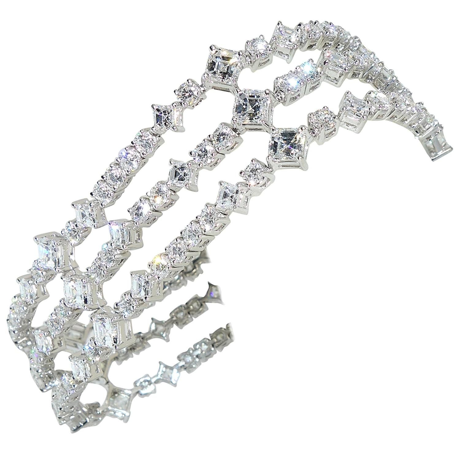 Harry winston diamond platinum bracelet at 1stdibs for Harry winston jewelry pinterest