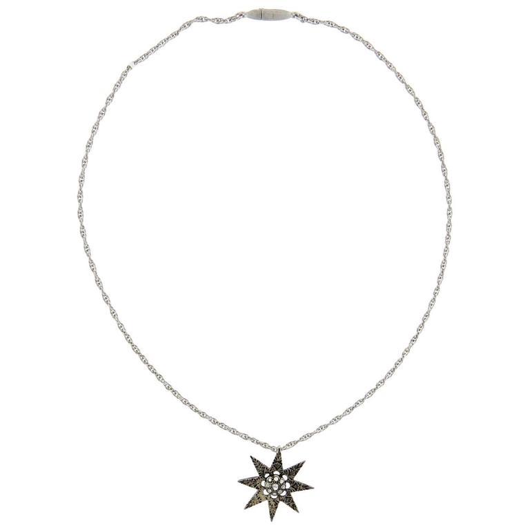 Buccellati gold diamond circle pendant necklace for sale at 1stdibs buccellati diamond silver gold star pendant necklace aloadofball Gallery