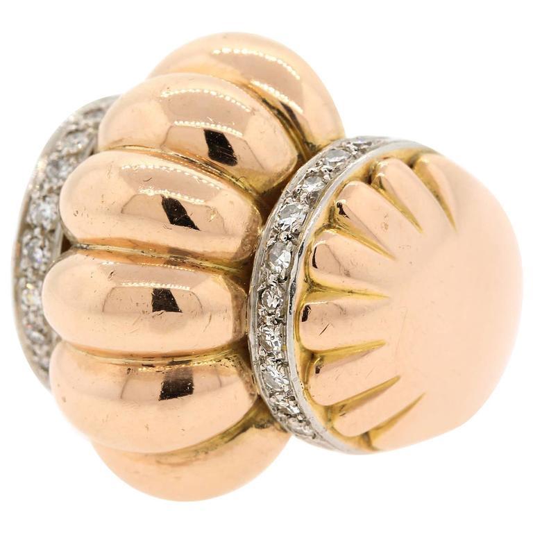 retro 1940s gold platinum ring at 1stdibs