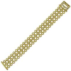 "Cartier ""Penelope"" Diamond 18K Yellow Gold Mesh Bracelet"