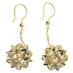Helix Extrovert Diamond Gold Dangle Earrings
