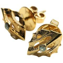John Brevard Morph Diamond Gold Stud Earrings