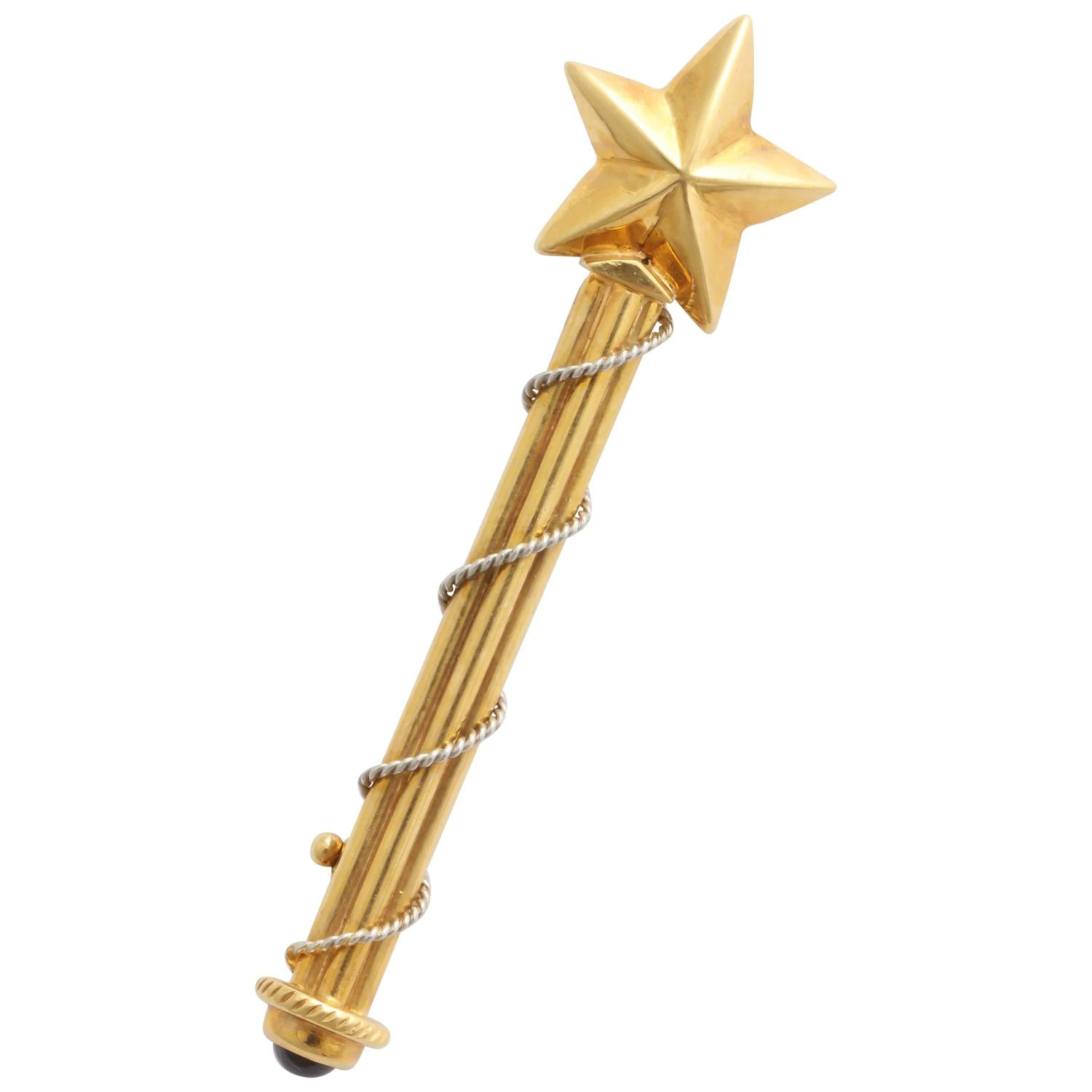 charming sapphire gold platinum magic wand pin for sale at. Black Bedroom Furniture Sets. Home Design Ideas