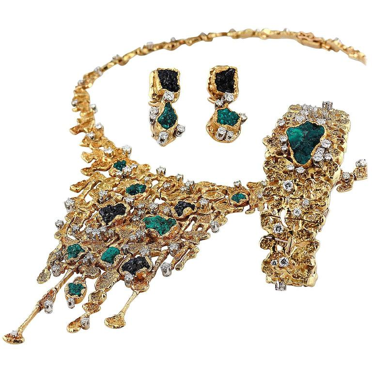 1960s Patek Philippe Necklace Watch And Earrings Set Designed By