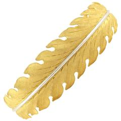 Buccellati Gold Leaf Bangle Bracelet
