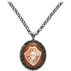 "Amedeo Mini ""Scudo"" Cameo Necklace"