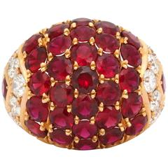 Impressive Ruby Diamond Gold Ring