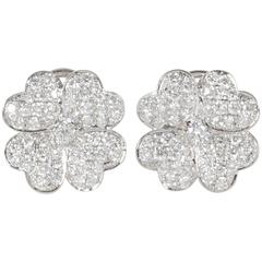 Diamond Gold Flower Earrings