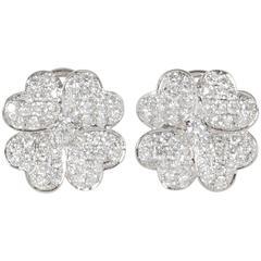 Diamond Gold Flower Earrings