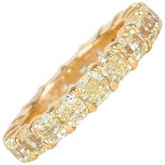 Yellow Diamond Gold Eternity Band Ring