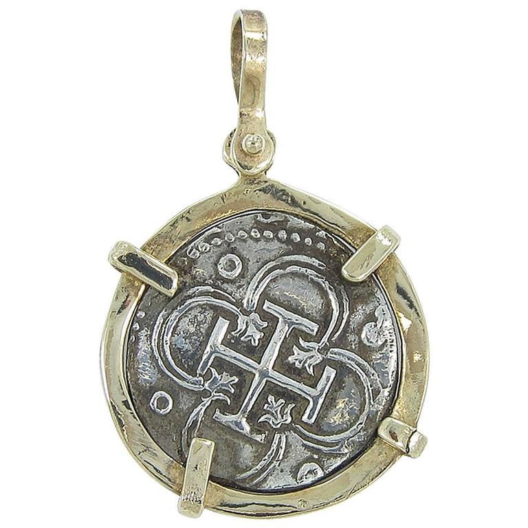 authentic sunken treasure atocha coin pendant at 1stdibs