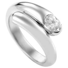 Bulgari Bypass Diamond Gold Ring