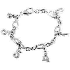 Franck Muller Talisman Diamond Gold Six Charm Bracelet