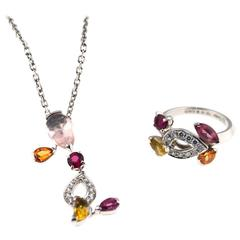 "Cartier ""Sorbet"" Collection Set Ring and Necklace"