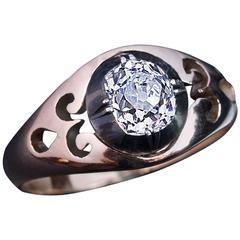 Antique Russian Cushion Cut Diamond Unisex Ring