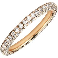 Rose Gold Eternity Band, 18 Karat and Diamonds