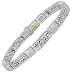 Luca Carati 3.75 Carats Diamond Gold Tennis Bracelet