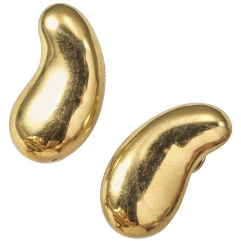 Tiffany & Co. Bean Gold Ear Clips