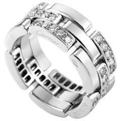Cartier Maillon Panthere Diamond Gold Band Ring
