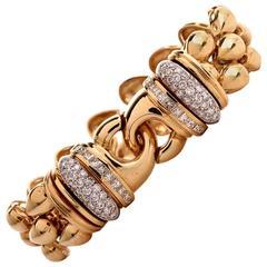 Heavy Diamond Gold Bracelet