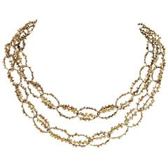 Late-20th Century Modernist Gold Chain