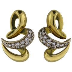 Boucheron Paris Diamond Gold Earrings