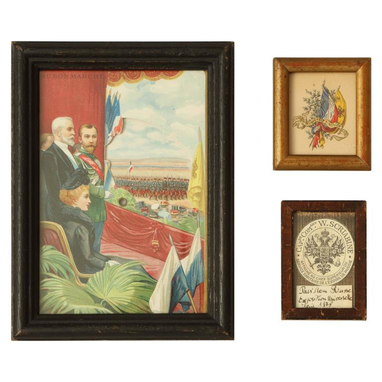Three Commemorative Items of Franco-Russian Memorabilia, circa 1900 For Sale