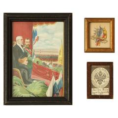 Three Commemorative Items of Franco-Russian Memorabilia, circa 1900