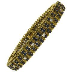 Classic Zolotas Sapphire Diamond Gold Bracelet